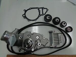 PORSCHE 944 924S WATER PUMP KIT WITH BRAND NEW BELTS AND ROLLERS READ LISTING !!