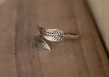 Leaf Toe Ring Sterling Silver New Adjustable Jewelry Shipping Included