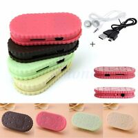 USB Mini Cookie Shape MP3 Music Player Support 32GB Micro TF Card +Earphone