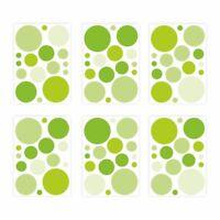 136 Wandtattoo Punkte-Set grün - 96 Stück - Sticker für Kinderzimmer Baby Möbel