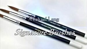 Signature Brushes Set of 3. Custom Design by Mix Lang perfect end to any Artwork