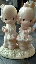 Precious Moments Figurine To My Forever Friend 100072 Enesco girl basket flowers