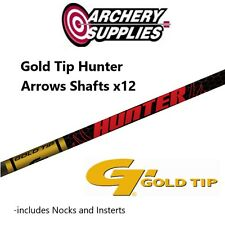 Gold Tip Hunter Arrows x12 - 340 Spine (Shafts Unfletched)