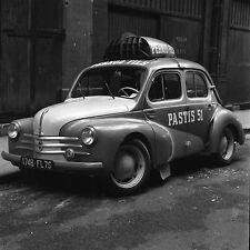 Auto Publicité c. 1950 - 4CV Renault PASTIS 51  - Négatif 6 x 6 - 49