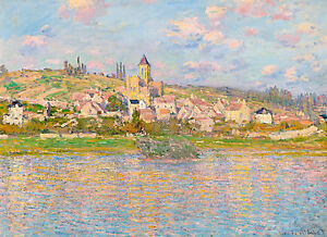 Monet 1879, Vetheuil, Canvas Print, Fade Resistant HD Print or Canvas