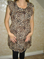 Atmosphere Size 12 Mid Length Animal Print Summer Dress