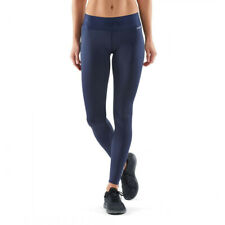 Skins Womens DNAmic Primary Compression Long Tights Bottoms Pants Trousers Navy