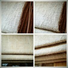 Fabric samples for Made to measure hessian natural linen roman blind