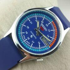 VINTAGE SEIKO 5 EXCELLENT ROYAL BLUE  AUTOMATIC JAPAN MEN'S  WRIST WATCH MN