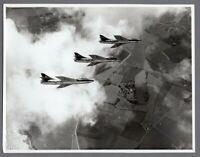 HAWKER HUNTER F1 FORMATION LARGE ORIGINAL VINTAGE AIR MINISTRY PHOTO RAF 12