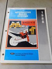 Nos 1988 Ford Mustang Thunderbird Ltd Auto Brake Systems Shop Service Manual
