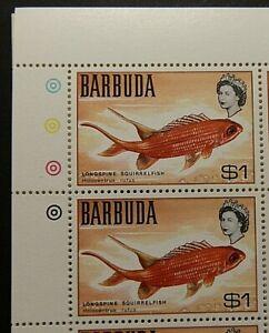 BARBUDA 1968 SG25 $1 LONGSPINE SQUIRRELFISH  -  MNH