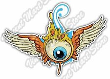 "Flying Eyeball Eye Scary Evil Tattoo Car Bumper Vinyl Sticker Decal 5""X4"""