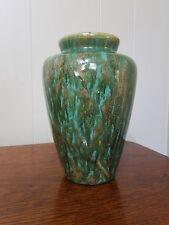 Zanesville Stoneware Neptune Glaze Vase #102 RARE TOBACCO LEAF MINT CONDITION