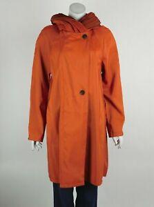 Mycra Pac Short Donatella Raincoat Terracota/Rust Reversible Pleated Hood S New