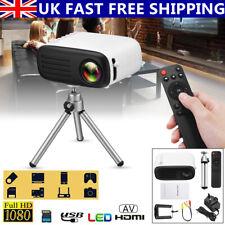 More details for 7000 lumens full hd 1080p mini led projector home theater cinema usb hdmi av 4k