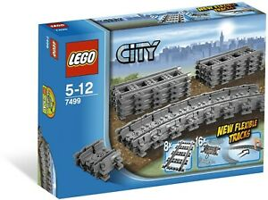 LEGO (City) Flexible and Straight Tracks (#7499) New in Sealed Box