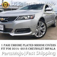 Chrome Mirror Cover Trims Overlays For Chevrolet Impala 2014 2015 2016 2017 2018