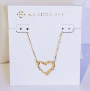 NEW Authentic KENDRA SCOTT  715 Rose Gold Sophee Small Heart Pendant Necklace