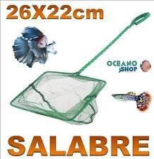 SALABRE 26x22CM GRANDE ACUARIO de malla RED Verde pecera peces mango tortuguera