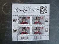 2013 HUNGARY 200th ANNIV BIRTH GUISEPPE VERDI 4 STAMP SHEETLET MINT MNH