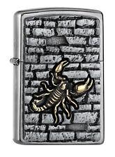 Zippo Lighter ● Scorpion on the Wall Emblem ● 2005358 ● Neu New OVP ● A74
