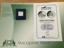 2 x 175 YEARS OF MELBOURNE COMMEMORATIVE SILVER COIN FLINDERS STREET STATION