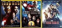 IRON MAN 1 + 2 + 3 - LA TRILOGIA - Robert Downey Jr. - DVD EX NOLEGGIO PARAMOUNT