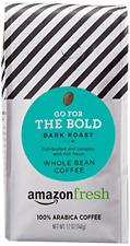 AmazonFresh Dark Roast Whole Bean Coffee, 12 Ounce Pack of 1