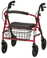 NOVA 4214 Mini Mack Heavy Duty Bariatric Rollator Rolling Walker RED or BLUE NEW