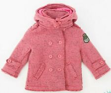 BNWT Gorgeous Diesel baby girls hooded winter coat age 6 months wool mix