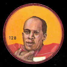 1963 CFL NALLEY'S POTATO FOOTBALL COIN #128 LOVELL COLEMAN CALGARY STAMPEDERS