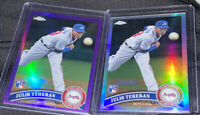 JULIO TEHERAN 2011 Topps Chrome PURPLE Refractor #197 RC /499 & Refractor Rookie