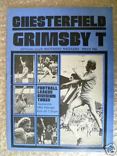 Match day Magazine Chesterfield v Grimsby Town, 16th Feb (League Division Three)
