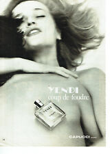 Publicité Advertising  068  1983    eau toilette Yendi  par Capucci