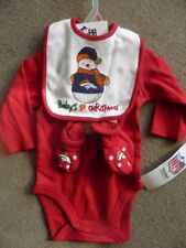 Denver Broncos Infant Baby Bodysuit Outfit Christmas Bib Booties 3-6 Months