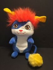 "POPPLES Izzy 8"" Pop Open Plush Stuffed Toy Blue Orange Spin Master 2015"
