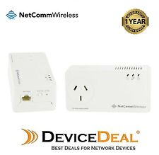 Netcomm NP511 500Mbps Powerline Kit with AC Pass-through + One Year Warranty