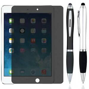 Stylus +Tempered Glass Privacy Anti Spy Screen Protector For iPad 9.7 / Pro Air