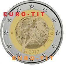 FINLANDE  2  x  COMMEMORATIVE  2 EURO   NATURE  FINLANDAISE  2017  /  disponible