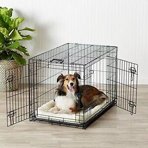 Indoor Big Dog Cage Crate Kennel Larg Pet Dog Double-Door Metal Folds 36x23x25