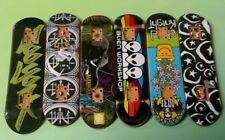 6 Different Tech Decks Skateboards Mini Skateboard Lot 13 Skate No Wheels ! Teck