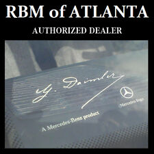 Genuine Mercedes Benz G Daimler Signed Windshield Sticker Decal Clear Label