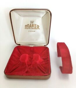 Rare RW Roamer Vintage Coffin Watch Box 1950's Swiss Watch Case Rare Crown Logo