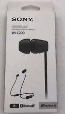 NEW Sony WIC200 Wireless In-ear Headphones (Black) FREE SHIPPING