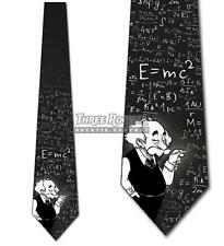 Cartoon Einstein Tie Science Math Neckties Mens E-MC2 Equations Tie NWT