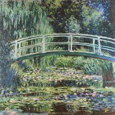 "24"" PRINT Water Lilies,1899 by Monet ANTIQUE LANDSCAPE ART - GIVERNY LILY POND"