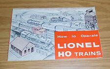 LIONEL POSTWAR 1960 HO GAUGE TRAINS HOW TO OPERATE BOOKLET ORGINIAL TRACK LAYOUT