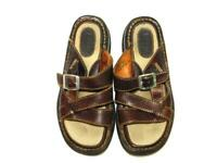Born Size 6 36.5 Brown Leather Sandals Open Toe Buckle Strap Walking Shoes