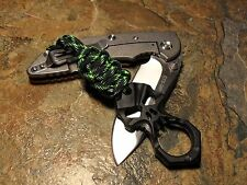 DECAY PARACORD KNIFE LANYARD GLASS BREAKER W/ SKULL RING AMERICAN MADE